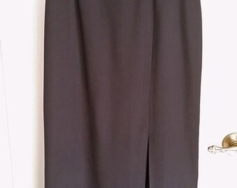 Vintage Black Pencil Skirt