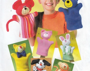 Hand Puppets Sewing Pattern, Puppet Patterns, Toy Sewing Pattern, Uncut Sewing Pattern, Butterick B4209