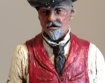 "Michael Garman Sculpture ""Blackjack"" Hand Painted"