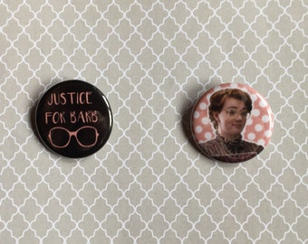 Stranger Things Barb Pinback Buttons