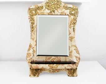 Vintage Capodimonte mirror Antique mirror Large antique mirror