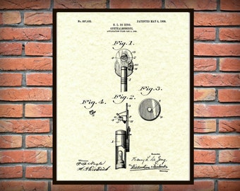 Patent 1908 Ophthalmoscope Art Print - Poster - Medical - Doctors Office -  Optometrist - Eye Doctor Office Art - Optometry