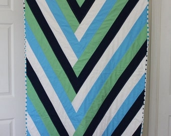 baby quilt hand quilted modern pure cotton boys or girls quilt