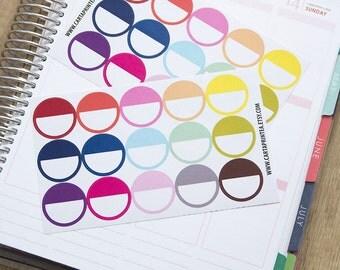 """30 circle stickers, 1"""" dot round stickers, planner stickers, scrapbook sticker, reminder checklist sticker eclp filofax happy planner"""