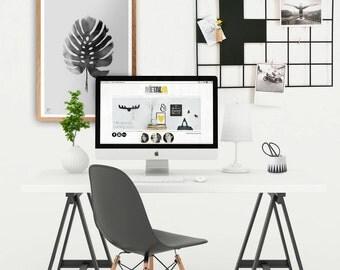 Wire Wall Grid, Wire Mesh Memo Board, Mood Board, Notice Board, Scandinavian Modern, Swiss Cross,  Wall Organizer
