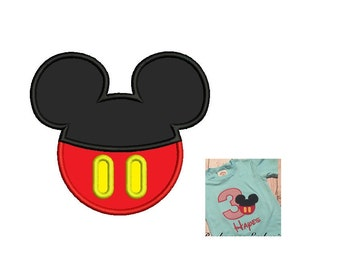 Mickey Mouse Head Applique - 3 sizes Instant Download