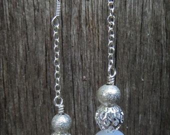 Rainbow Moonstone Dangle Earrings