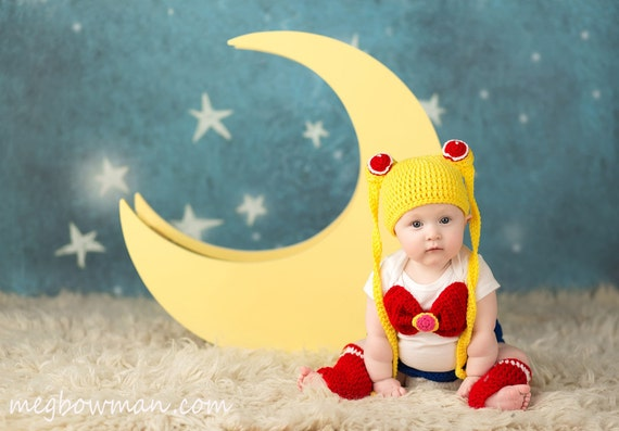 Sailor Moon Inspired Baby Set by CalaCrochet on Etsy