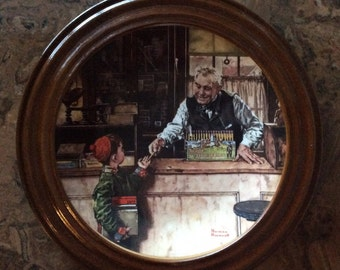 Norman Rockwell Decorative Plate / Back To School/First Issue/ Coming of age/ Knowles 14178 A
