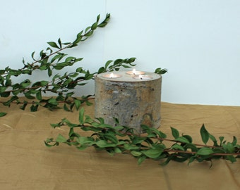 Log Tea Light Candle Holder, Aspen Log Candle Holder, Reclaimed Wood, Rustic Wood Candle Holder, Wedding Centerpieces,Rustic Wedding Decor