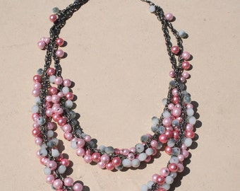Chunky/cluster pearl necklace (can be customizable)