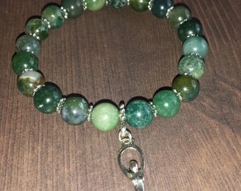 Goddess Gaia Mother Earth pagan charm bracelet