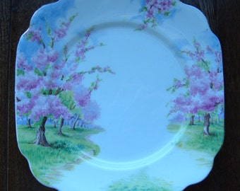 Blossom Time - Dessert Plate - Royal Albert Bone China England - Scenic - Trees with Pink Apple Blossoms -  Starter or Replacement Pieces