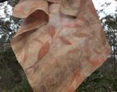 Square silk scarf // eco ...