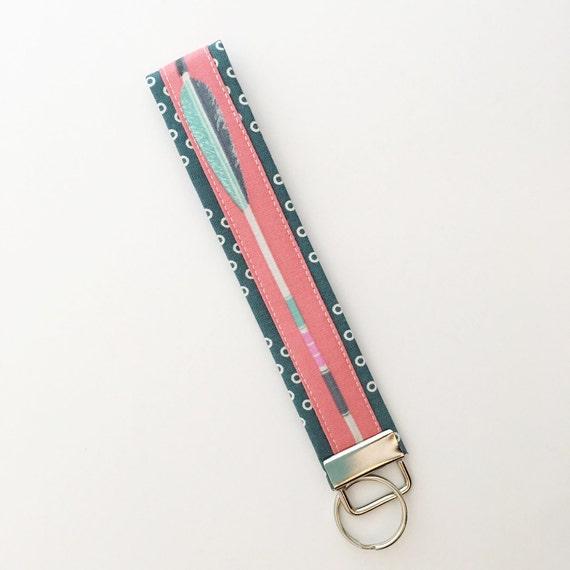 arrow keyfob, key fob, keychain, key chain, key holder, wristlet keychain, wrist keychain, fabric key fob, gift for her, gift ideas for her