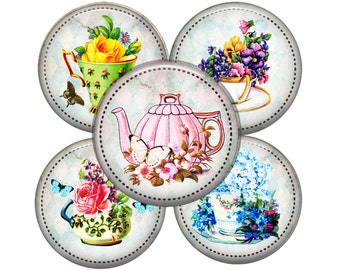 Set of 5 Tea Time mirrors, Bridesmaids,Bridal Party, Wedding favors, Thank you gifts, Small Gift, Showers,Book Club