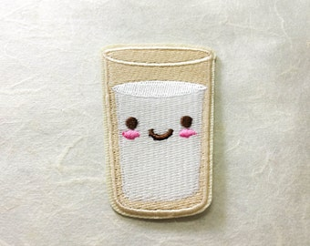 Water Glass Iron on Patch(M) - Water Glass Applique Embroidered Iron on Patch - Size 4.1x6.2 cm