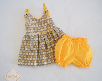 Modern Flowers Baby Outfit