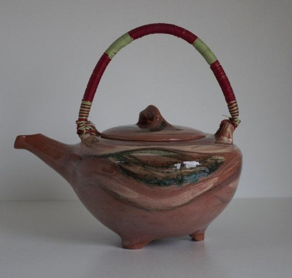 Lilian's Collection Handmade Terra Cotta Pottery Tea Pot, Ceramic Tea Pot, Pottery Pot, Coffee Pot, Unique Pot, Terracotta Pot, Boho Pot.