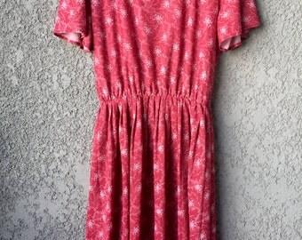 Pink floral Cali Looks dress