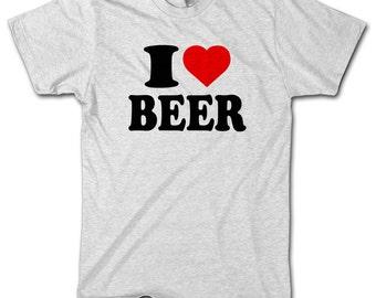 I LOVE BEER Funny MENS Birthday Tshirt Boys T Shirt Top Novelty Present Gift