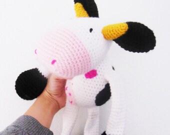 Crochet Cow, amigurumi cow