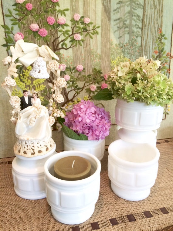 Milk Glass Vase Wedding Centerpiece Vases For Wedding Vintage