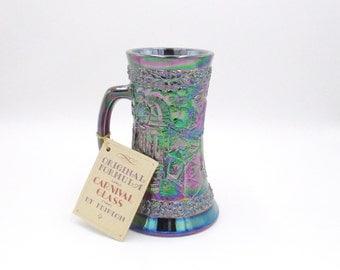 Fenton Glass, Fenton, Fenton Carnival Glass, Carnival Glass, Fenton Art Glass, Art Glass, Glass Mug, Beer Stein, Tankard