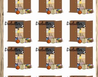 Declutter Stickers for your Erin Condren Planner