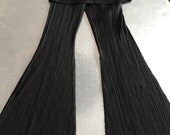 Issey Miyake Pleats Please black trousers. Vintage authentic Issey Miyake geometric  stylish pleated black pants Issey miyake unique pants