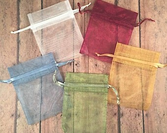 Organza Bags for Wine Corks - 3 inch x 4 inch Organza Bags - Small Organza Bags