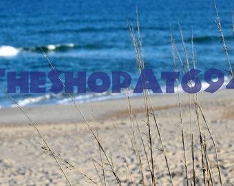 "Beach Grass Photo - Ocean Photo - Dunes Photo - Hatteras Beach Photo - Digital Download - ""A View From The Dunes"""