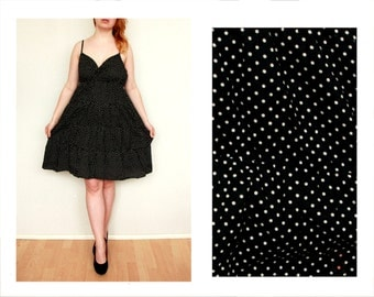 Polka dot dress, Pin Up Rockabilly, black and white