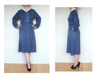 Polka dot dress Rockabilly - fit and flare Pin Up