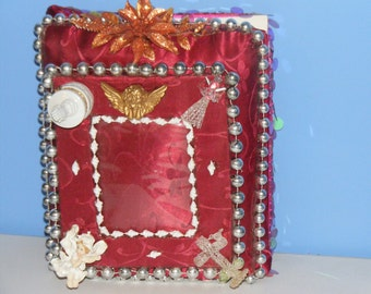 8x10 Red picture album with Angels and Praying Hands
