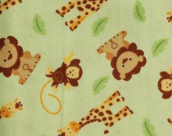 Jungle Print Flannel Baby Blanket