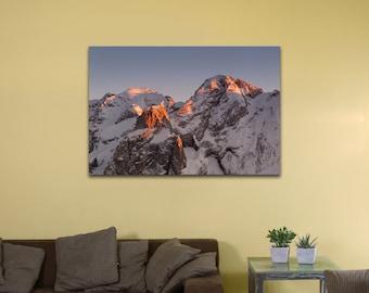 """Marmolada Mountain, Italy (12"""" x 18"""") - Canvas Wrap Print"""