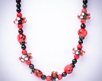 Lampwork Ladybug Necklace