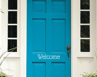 Welcome Decal | Welcome Sign | Front Door Welcome Vinyl Decal