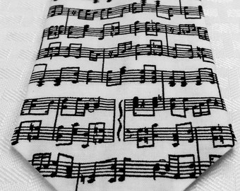 Musical notes tie, music notes tie, sheet music tie