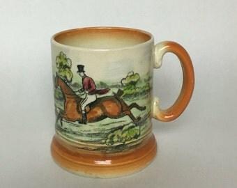 Arthur Wood Ye Olde Coaching & Hunting Days England Tankard Mug Stein Vintage - Gift for Dad