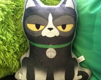 Cat Plushie- super soft plushie, stuffed animal, Grumpy Angry Cat