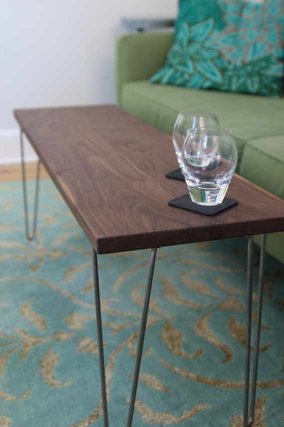 Modern narrow coffee table bench with stainless steel for Schmaler couchtisch