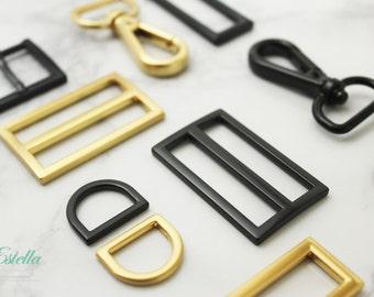 Handbag hardware, Square ring, Slide buckle, Snap hook, Buckle, Dring, End cap High-end, LIMITED EDITION