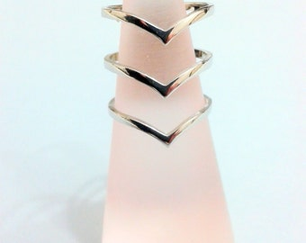 Sterling silver rings - very elegant rings-White gold filled rings-free  shipping