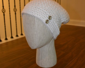 Crochet White Hat