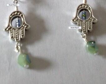 Khamsa bead earrings