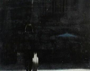 ORIGINALBILD. Einzigartiges Motiv. Mischtechnik. Fotoübertragung, Akrylfarbe und Aquarell. Unikat. FEINGEKAUFT.