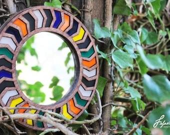 Geometric Wood Mirrors