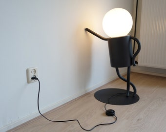 Floor lamp; Little man lamp; Design lamp; Floor switch; Standing lamp; Funny floor lamp; Minimal lamp